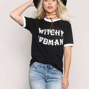 Gypsy Warrior Witchy Woman Ringer Tee